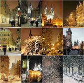Winter night in Prague — Stock Photo