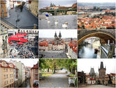Prague at different times of the year — Стоковое фото
