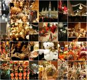 Christmas decorations on the market in Vienna — Stock Photo