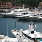 Luxury yachts in the bay of Monaco — Stock Photo #76674317