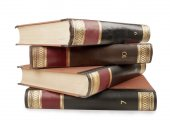 Heavy book tomes — Stock Photo