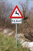 Traffic warning sign — Stock Photo