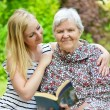 Grandmother and granddaughter. — Stock Photo #52036803