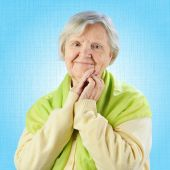 Senior woman looking to camera — Stock Photo