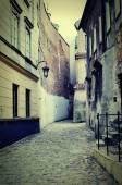 Stará ulice v Polsku. — Stock fotografie