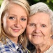 Happy grandmother and granddaughter. — Stock Photo #70780065