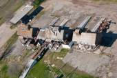 Top view of the old grain elevator for processing — Stock Photo