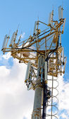 Cellular antennas, the view from a great height — Stock Photo