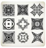 Vector old baroque design set. — Stock Vector