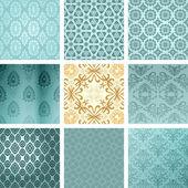Antique, pattern, vintage, rococo, baroque, retro, art-deco, orn — Stock Vector
