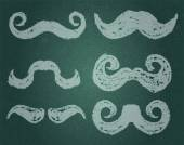 Vector. Moustache Set — Stock Vector