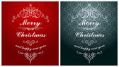 Christmas typographic label for Xmas and New Year holidays desig — Stock Vector