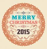Vintage Christmas Card Design. — Stock Vector