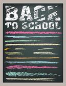Back to School strokes — Stock Vector
