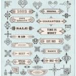 Set of calligraphic design elements — Stock Vector #57021805