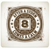 Retro stamp. — Stock Vector
