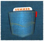 Vector - Blue back jeans pocket — Stock Vector
