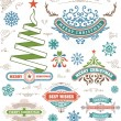 Christmas decoration design elements. Merry Christmas and happy — Stock Photo #58573077