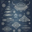 Christmas decoration design elements. Merry Christmas and happy — Stock Photo #58573559