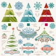 Christmas decoration design elements. Merry Christmas and happy — Stock Photo #58573731