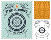 Retro stamp design — Stock Photo