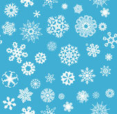 Snowflakes Seamless Background — Stockfoto