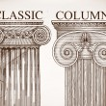 Classical column background set — Stock Vector #62680547
