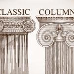 Classical column background set — Stock Vector #62681183