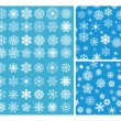 2 Snowflakes Seamless Background — Stock Vector #62681651
