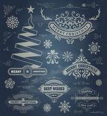 Elementos de diseño de la decoración de navidad. — Vector de stock