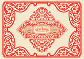 Vintage label. — Stock Vector