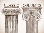 Classical column background set — Stock Vector