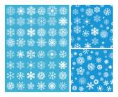 2 Snowflakes Seamless Background — Stock Vector