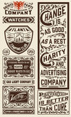 Old advertisement designs — Stock vektor