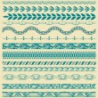 Retro lines set. — Stock Vector #65063543