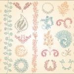 Floral design elements. — Stock Vector #69610081