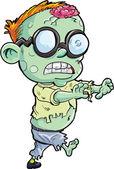 Cute cartoon stalking zombie — Stock Vector