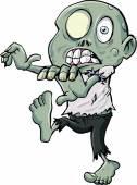 Cartoon zombie stalking — Stock Vector
