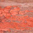 Authentic Wooden Wall with Peeling Off Red Paint — Stock Photo #66851883