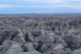 Landscape view of the Badlands National Park — Stock Photo