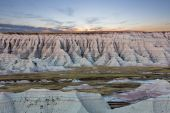 Scenic sunset view of the South Dakota badlands — Stock Photo