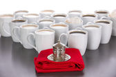 King of the cups of coffee — Stock Photo