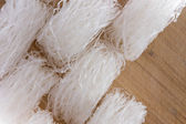 Dried mung bean vermicelli noodles — Stock Photo