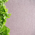 Border of crisp California lettuce on textile — Stock Photo #69332795