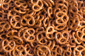 Background texture of mini pretzels — Stock Photo