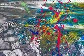 自由な絵画の抽象的な背景 — ストック写真