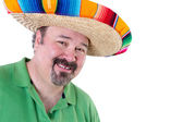 Welcoming Man in Mexican Sombrero with Copy Space — Stock Photo