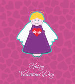 St. Valentine's Day Angel — Stock Vector