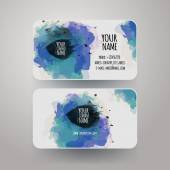 Vector template watercolor business cards — Stockvector