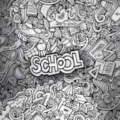 Hand drawn school sketch background — Stock Vector